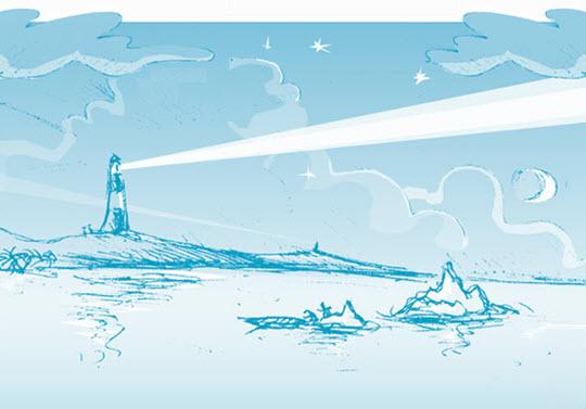 Illustration Leuchtturm