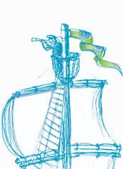 Illustration Ausguck mit Möwen 2